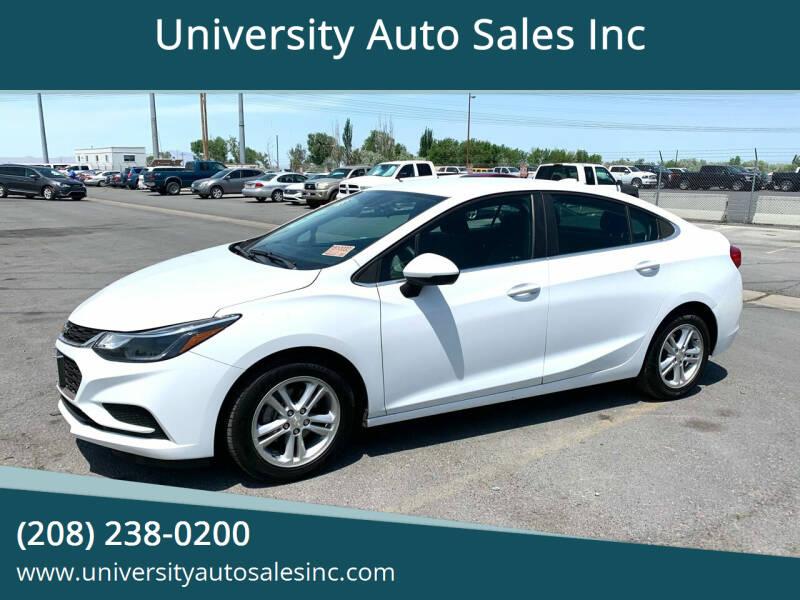2018 Chevrolet Cruze for sale at University Auto Sales Inc in Pocatello ID