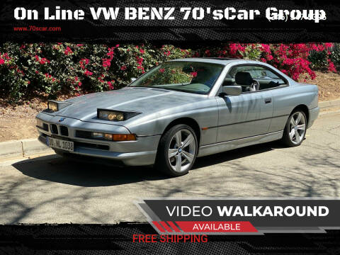 1997 BMW 8 Series for sale at On Line VW BENZ 70'sCar Group in Warehouse CA