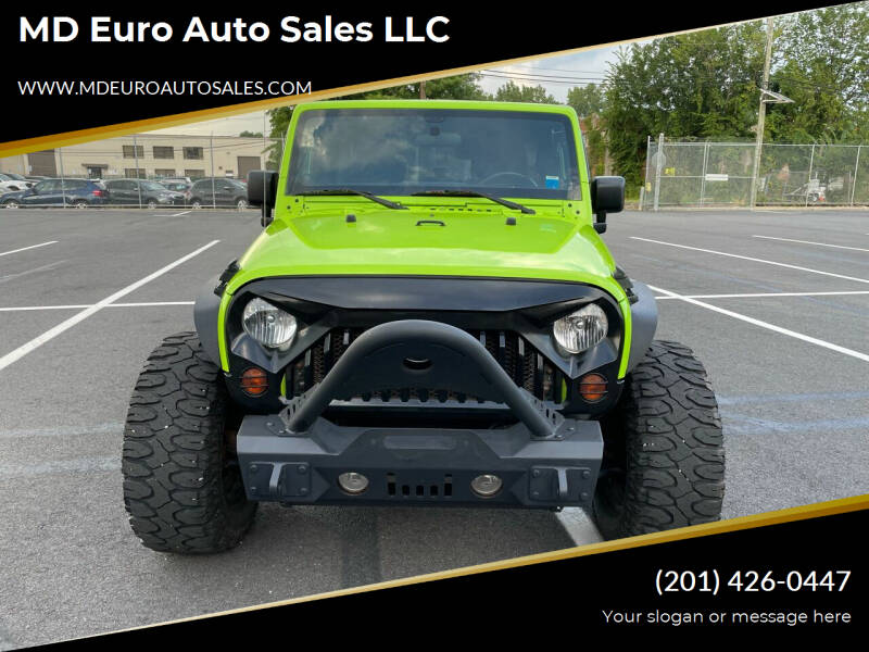 2012 Jeep Wrangler Unlimited for sale at MD Euro Auto Sales LLC in Hasbrouck Heights NJ