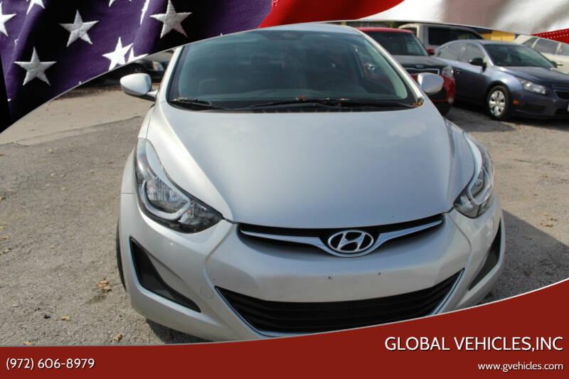 2016 Hyundai Elantra for sale at Global Vehicles,Inc in Irving TX