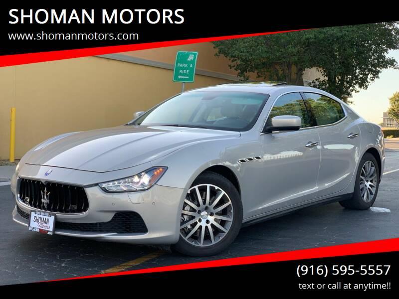 2014 Maserati Ghibli for sale at SHOMAN MOTORS in Davis CA
