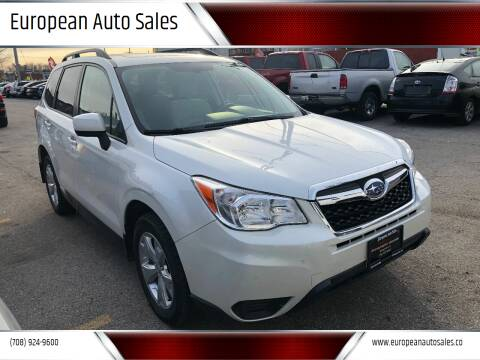 2014 Subaru Forester for sale at European Auto Sales in Bridgeview IL