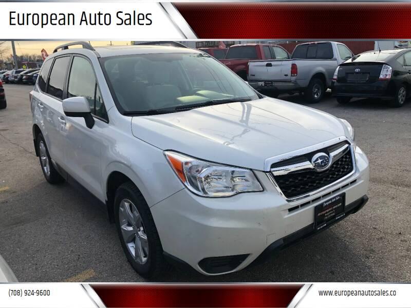 2014 Subaru Forester for sale at European Auto Sales in Bridgeview IL