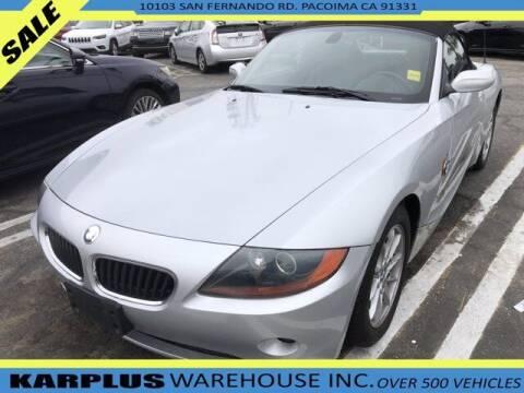 2003 BMW Z4 for sale at Karplus Warehouse in Pacoima CA