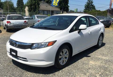 2012 Honda Civic for sale at A & V AUTO SALES LLC in Marysville WA