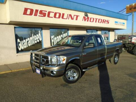 2007 Dodge Ram Pickup 2500 for sale at Discount Motors in Pueblo CO