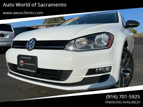 2016 Volkswagen Golf for sale at Auto World of Sacramento Stockton Blvd in Sacramento CA