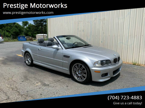 2001 BMW M3 for sale at Prestige Motorworks in Concord NC