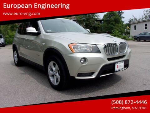 2012 BMW X3 for sale at European Engineering in Framingham MA