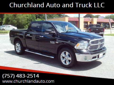 2013 RAM Ram Pickup 1500 for sale at Churchland Auto and Truck LLC in Portsmouth VA