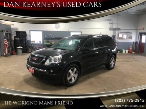2012 GMC Acadia for sale at DAN KEARNEY'S USED CARS in Center Rutland VT