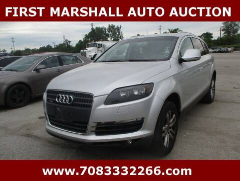 2009 Audi Q7 for sale at First Marshall Auto Auction in Harvey IL
