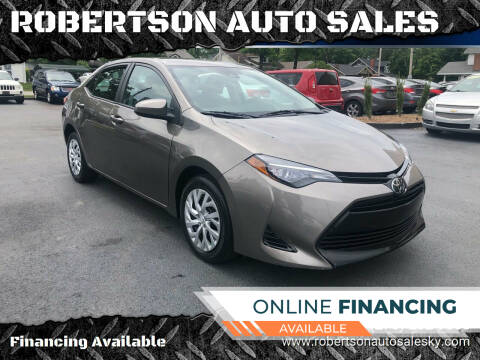 2017 Toyota Corolla for sale at ROBERTSON AUTO SALES in Bowling Green KY