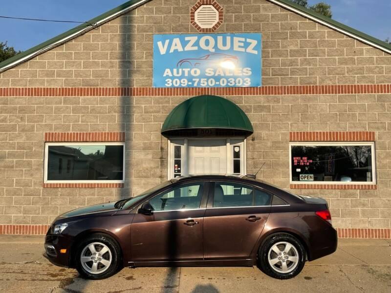 2015 Chevrolet Cruze for sale at VAZQUEZ AUTO SALES in Bloomington IL