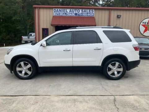 2012 GMC Acadia for sale at Daniel Used Auto Sales in Dallas GA