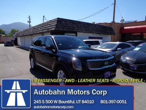 2020 Kia Telluride for sale at Autobahn Motors Corp in Bountiful UT