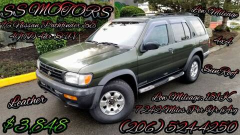 1996 Nissan Pathfinder for sale at SS MOTORS LLC in Edmonds WA