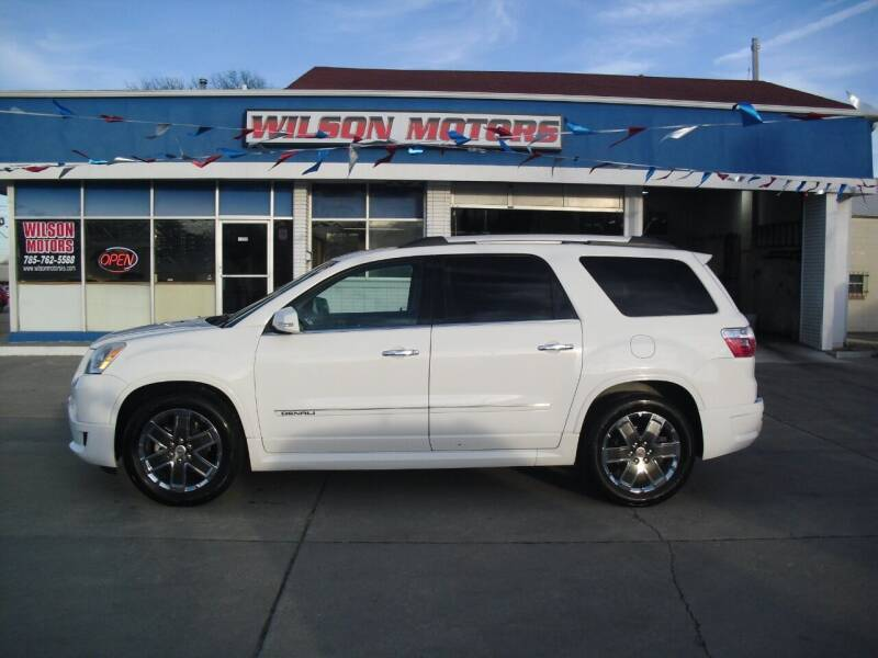 2012 GMC Acadia for sale at Wilson Motors in Junction City KS