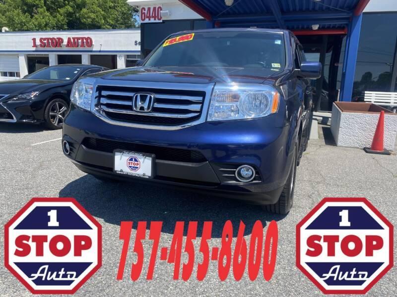 2013 Honda Pilot for sale at 1 Stop Auto in Norfolk VA