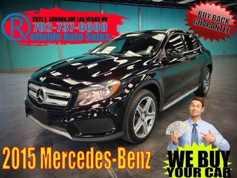 2015 Mercedes-Benz GLA for sale at Reliable Auto Sales in Las Vegas NV