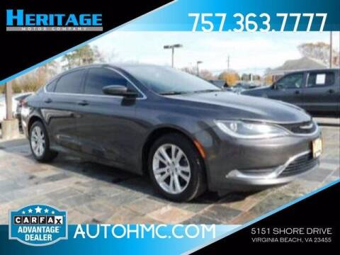 2016 Chrysler 200 for sale at Heritage Motor Company in Virginia Beach VA