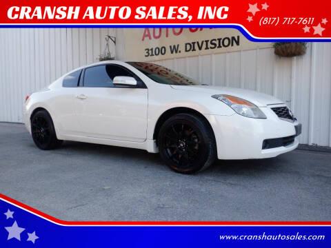2009 Nissan Altima for sale at CRANSH AUTO SALES, INC in Arlington TX