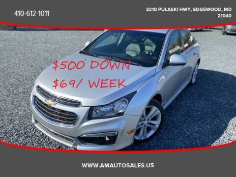2015 Chevrolet Cruze for sale at A&M Auto Sales in Edgewood MD