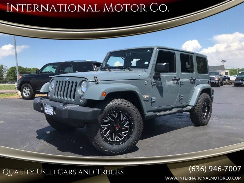 2014 Jeep Wrangler Unlimited for sale at International Motor Co. in Saint Charles MO