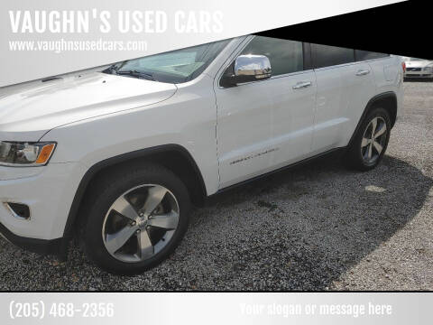 2014 Jeep Grand Cherokee for sale at VAUGHN'S USED CARS in Guin AL