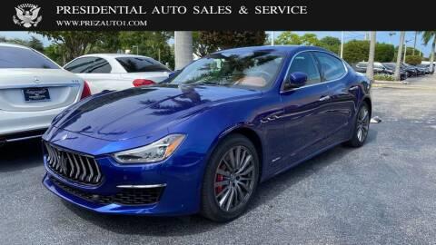 2018 Maserati Ghibli for sale at Presidential Auto  Sales & Service in Delray Beach FL