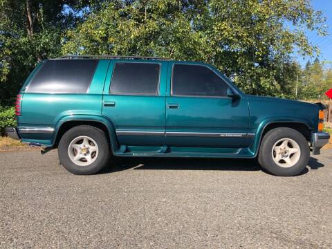 1998 Chevrolet Tahoe for sale at Grandview Motors Inc. in Gig Harbor WA