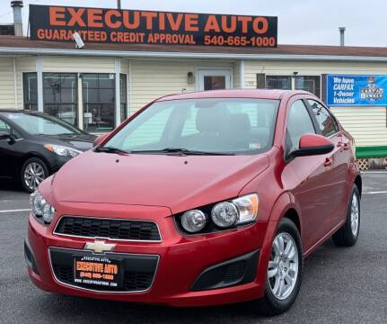 2012 Chevrolet Sonic for sale at Executive Auto in Winchester VA