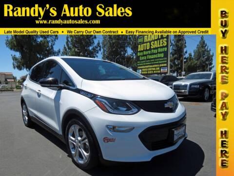 2017 Chevrolet Bolt EV for sale at Randy's Auto Sales in Ontario CA