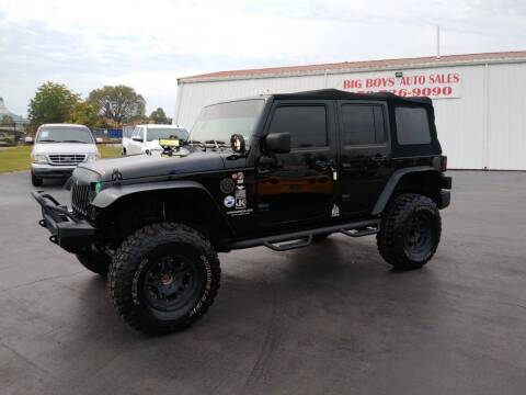 2009 Jeep Wrangler Unlimited for sale at Big Boys Auto Sales in Russellville KY