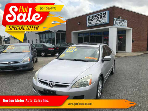 2006 Honda Accord for sale at Gordon Motor Auto Sales Inc. in Norfolk VA