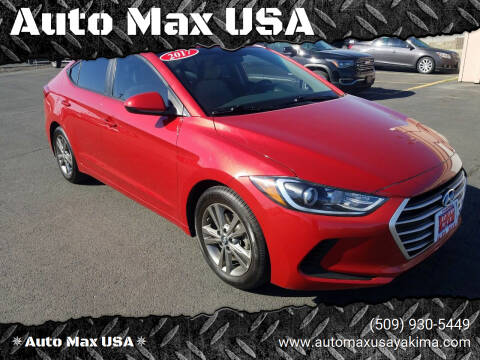 2017 Hyundai Elantra for sale at Auto Max USA in Yakima WA