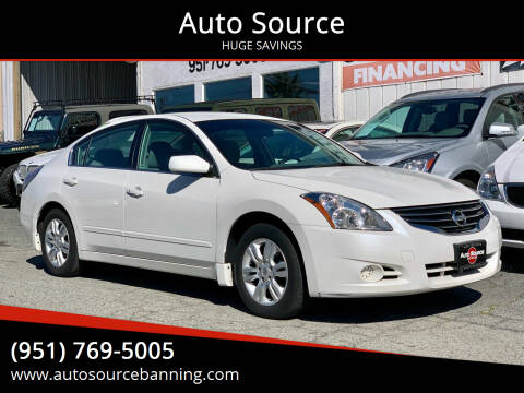 2010 Nissan Altima for sale at Auto Source in Banning CA