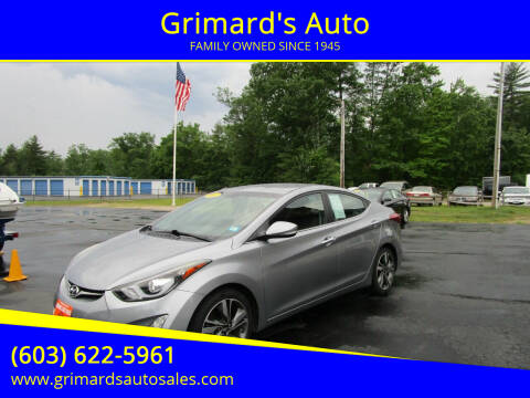 2015 Hyundai Elantra for sale at Grimard's Auto in Hooksett NH
