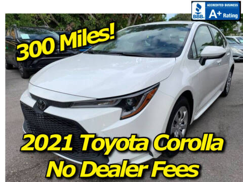 2021 Toyota Corolla for sale at Simply Auto Sales in Palm Beach Gardens FL
