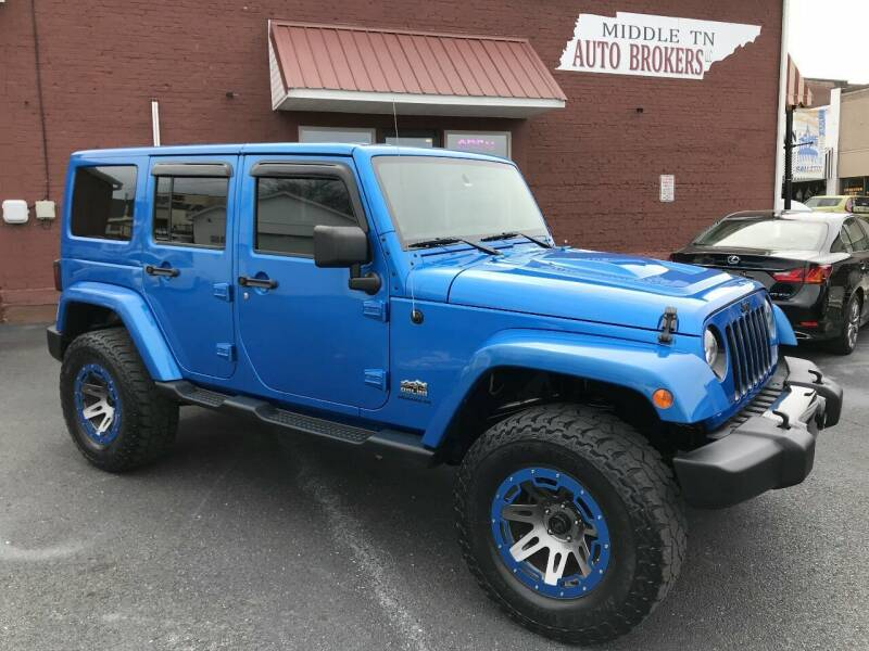 2014 Jeep Wrangler Unlimited for sale at Middle Tennessee Auto Brokers LLC in Gallatin TN