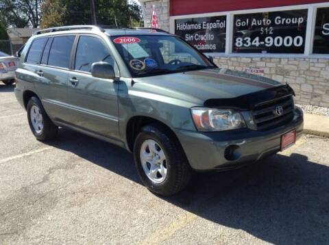 2006 Toyota Highlander for sale at GOL Auto Group in Austin TX