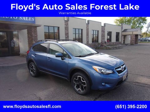 2015 Subaru XV Crosstrek for sale at Floyd's Auto Sales Forest Lake in Forest Lake MN