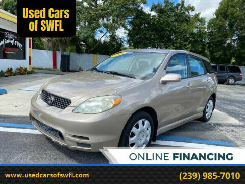 2003 Toyota Matrix for sale at Used Cars of SWFL in Fort Myers FL