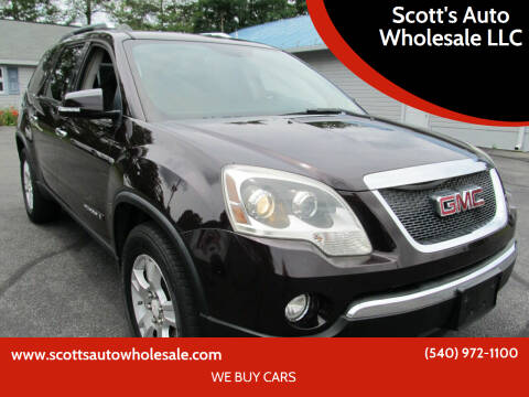 2008 GMC Acadia for sale at Scott's Auto Wholesale LLC in Locust Grove VA