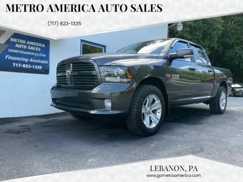 2014 RAM Ram Pickup 1500 for sale at METRO AMERICA AUTO SALES of Lebanon in Lebanon PA