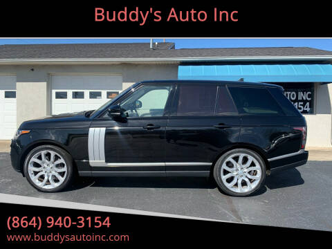 2016 Land Rover Range Rover for sale at Buddy's Auto Inc in Pendleton, SC