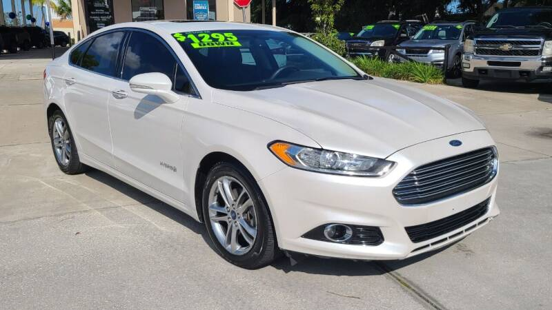 2015 Ford Fusion Hybrid for sale at Dunn-Rite Auto Group in Longwood FL