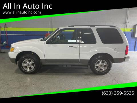 2003 Ford Explorer Sport for sale at All In Auto Inc in Addison IL