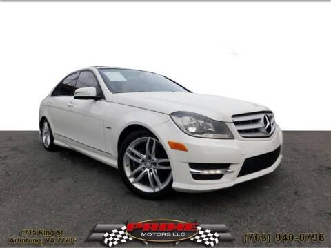 2012 Mercedes-Benz C-Class for sale at PRIME MOTORS LLC in Arlington VA