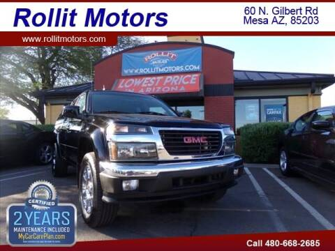 2012 GMC Canyon for sale at Rollit Motors in Mesa AZ